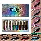 8Pcs Liquid Glitter Eyeliner Set,8 Colors Glitter Silver Liquid Eyeliner Long Lasting Waterproof Shimmer Sparkling Blue…