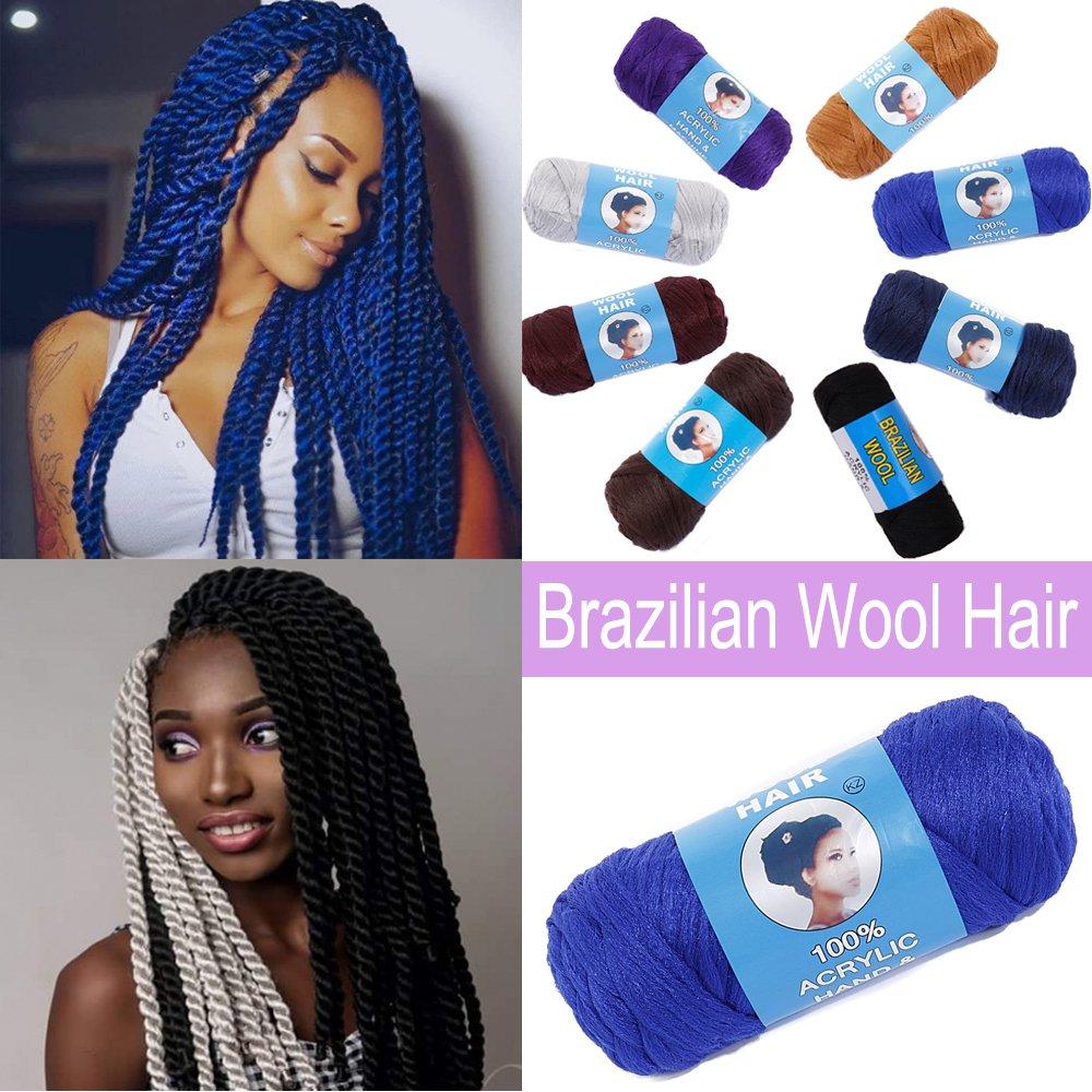 African Hair Knitting Yarn Wool Hair Brazilian Sengalese Twisting Jumbo Braids Reggae Dreadlocks US Elailite Store