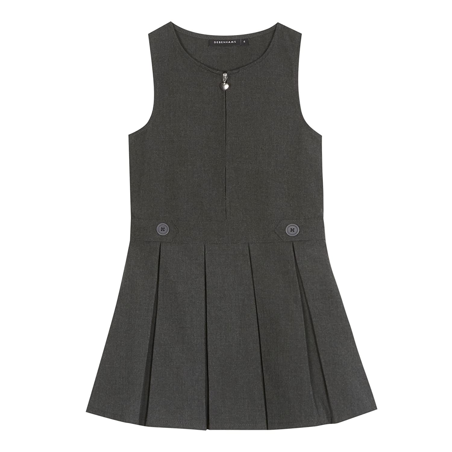 Debenhams Kids Girls Grey School Pinafore