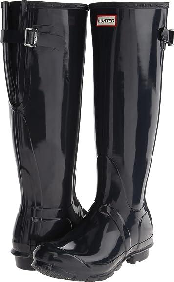 Hunter Women s Original Back Adjustable Gloss Navy Boot c28c8cc03e