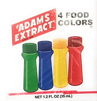 Amazon.com : Adams Extract 4 Food Colors ~ Food Coloring ~ Green ...