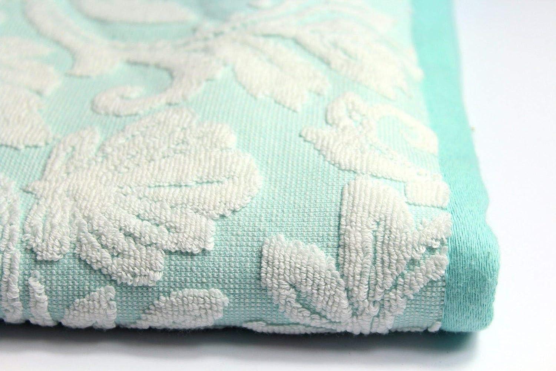 Bellissimos Turkish Jacquard 100/% Cotton 600gsm Thick Extra Soft Bathroom Bath Towel Aqua Blue, Bath Sheet