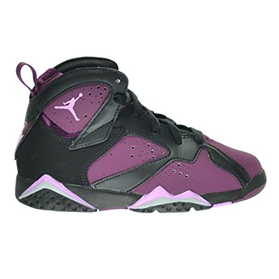 Jordan 7 Retro GP Mulberry Little Kids Shoes BlackFuchsia Glow
