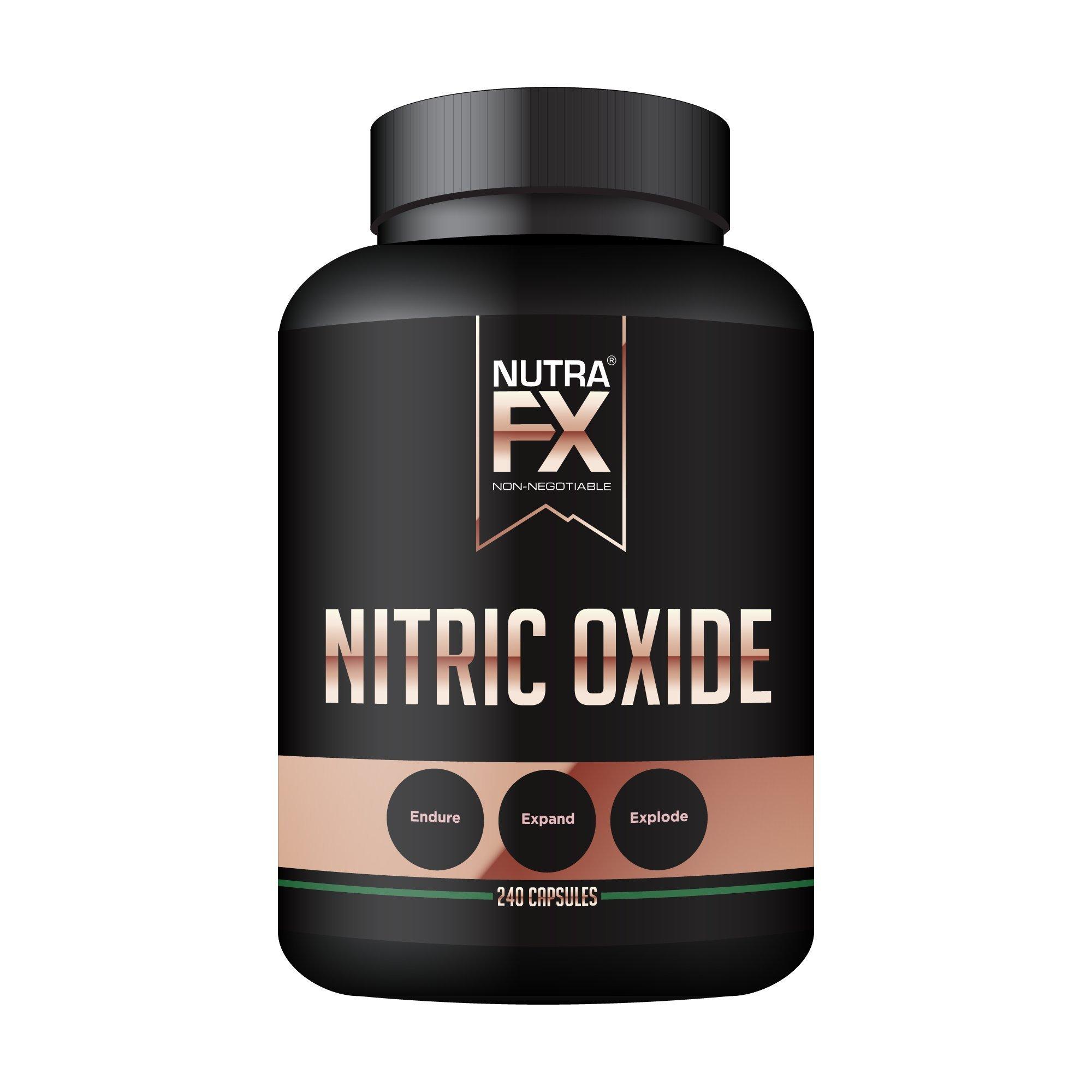 Nitric Oxide Booster Premium Muscle Pump Supplement Endurance Vasodilator by NutraFX