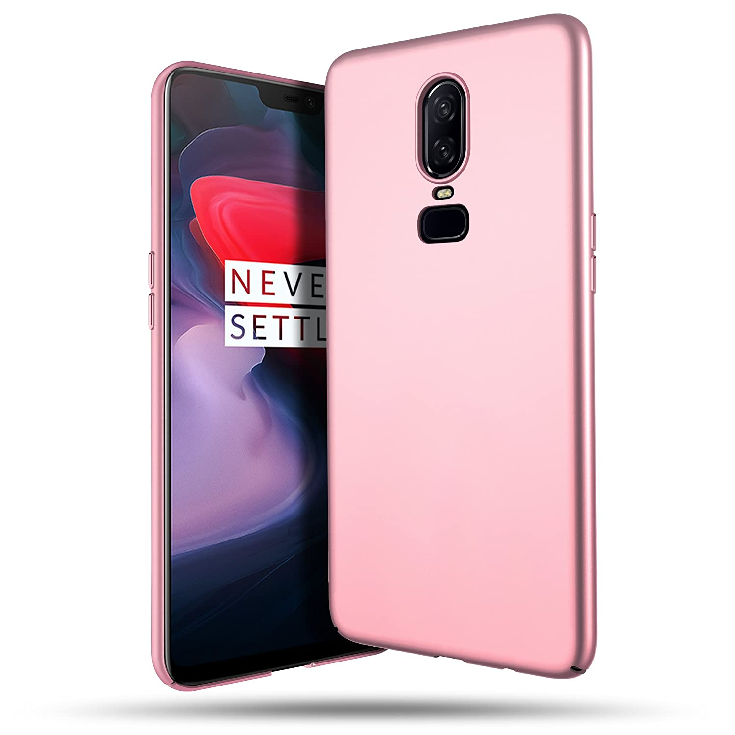 detailed look 23ca7 8762f OnePlus 6 Case, B BELK Ultra Slim Thin Snug-Fit Scratch Resistant Premium  PC Hard Protective Cover with Matte Finish Coating for OnePlus 6, Rose Gold