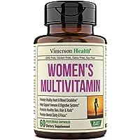 Women's Daily Multivitamin Supplement. Vitamins and Minerals. Chromium, Magnesium, Biotin, Zinc, Calcium, Green Tea…