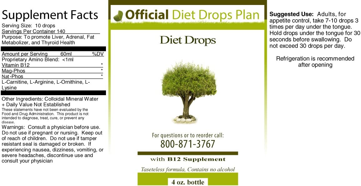 official diet drops plan