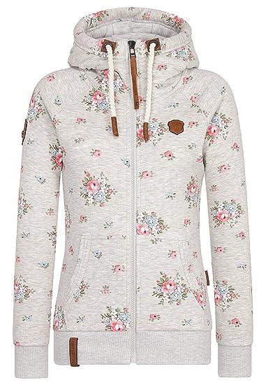 Naketano Female Zipped Jacket Der Schein trügt Stone Grey
