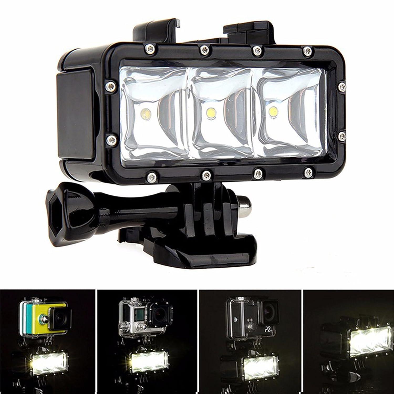 SHOOT Waterproof Diving Light High Power Dimmable LED Underwater For Gopro Hero 5 5S 4 4S 3 2 SJCAM SJ4000 SJ5000 SJ7000 Xiaomi Yi With