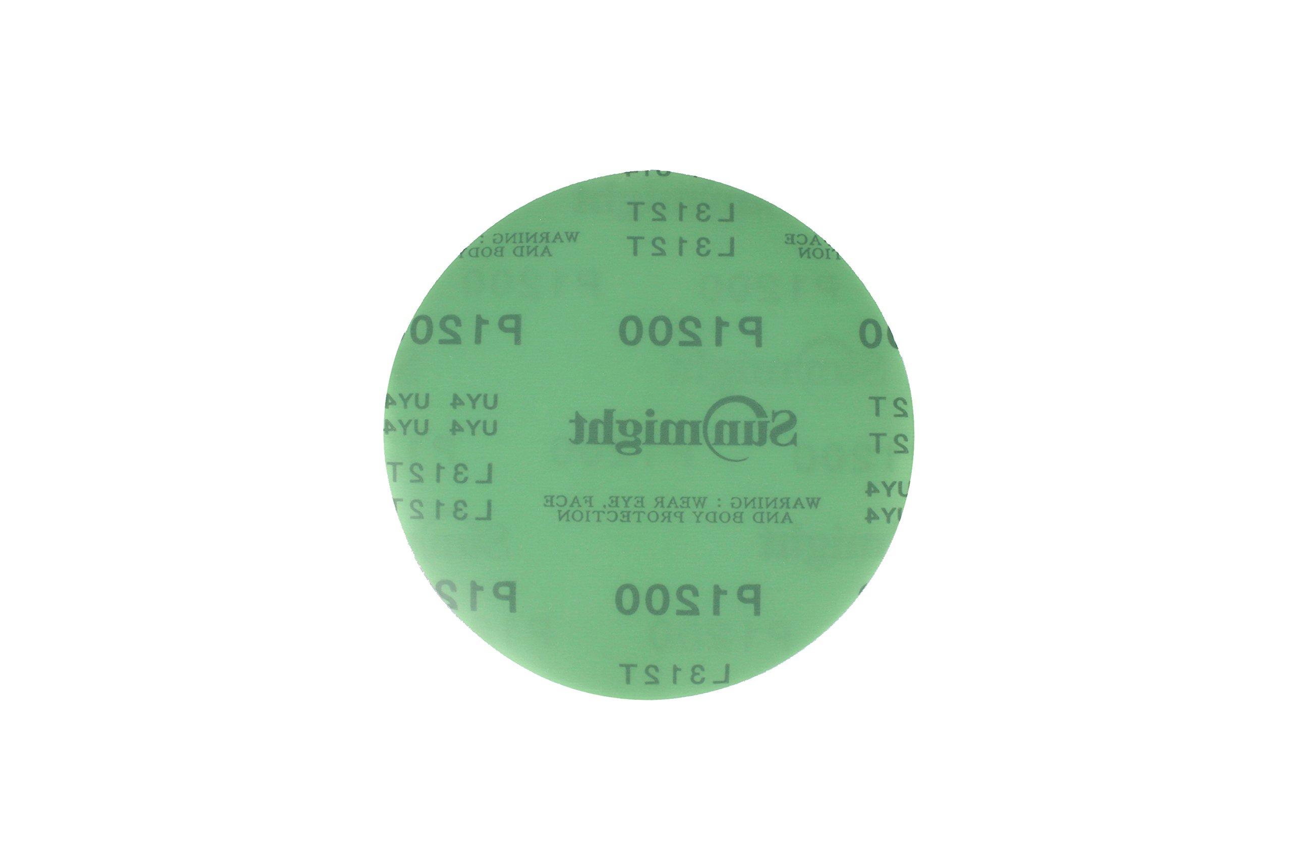 Sunmight 01421 6'' No Hole Velcro Disc (Film Grit 1200)