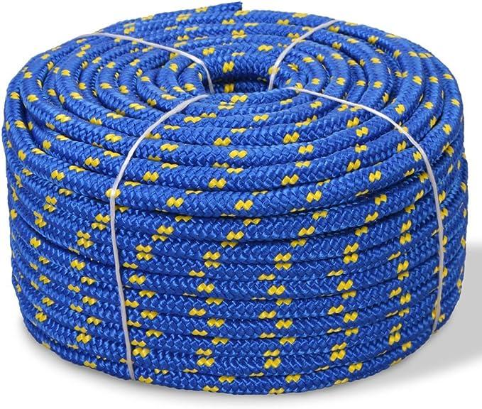 vidaXL Corde Torsad/ée Polypropyl/ène 6 mm 200 m Orange Cable de Construction