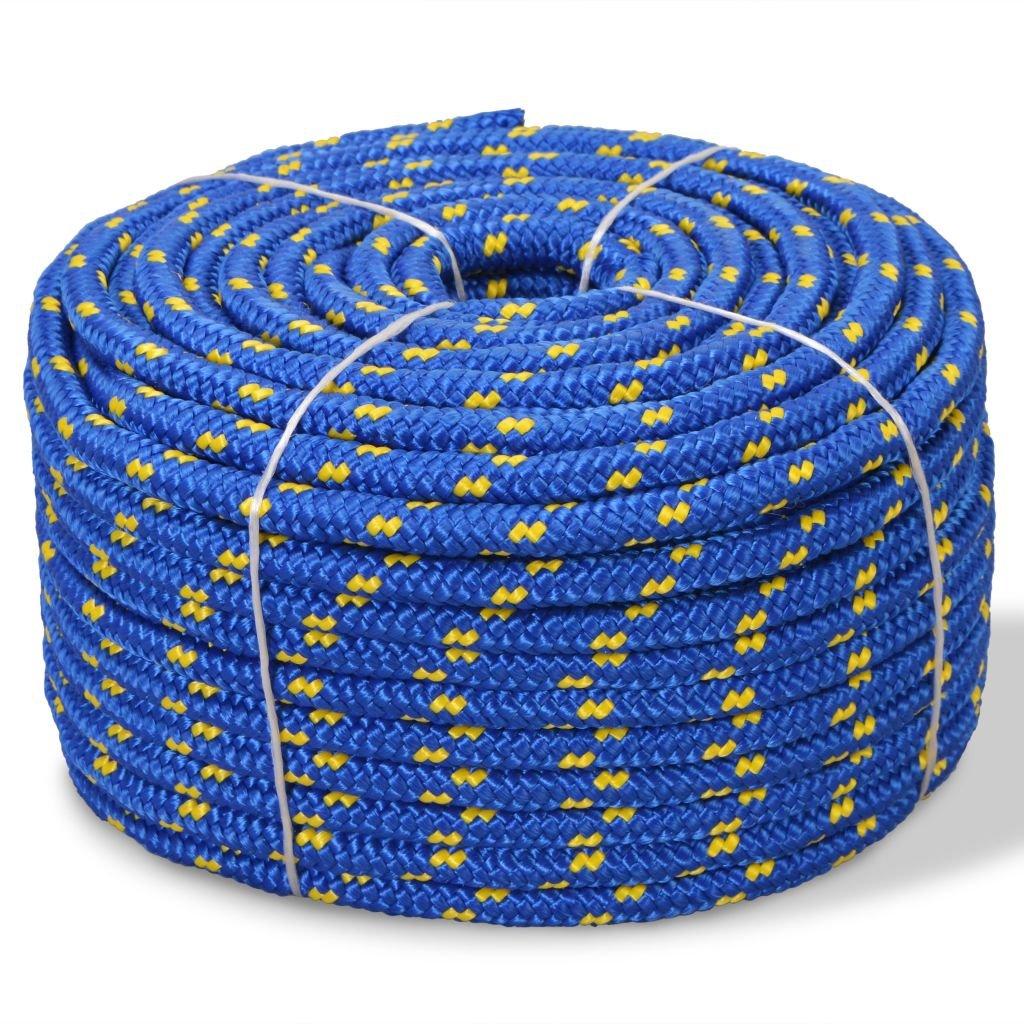 Festnight Cuerda de Polipropileno 6 mm 100 m Azul
