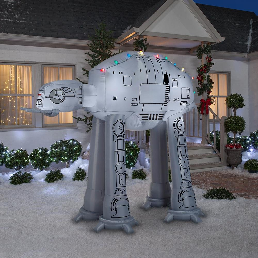 Gemmy 88.98 in. D x 62.21 in. W x 96.06 in. H Inflatable AT-AT On Snow Base Scene