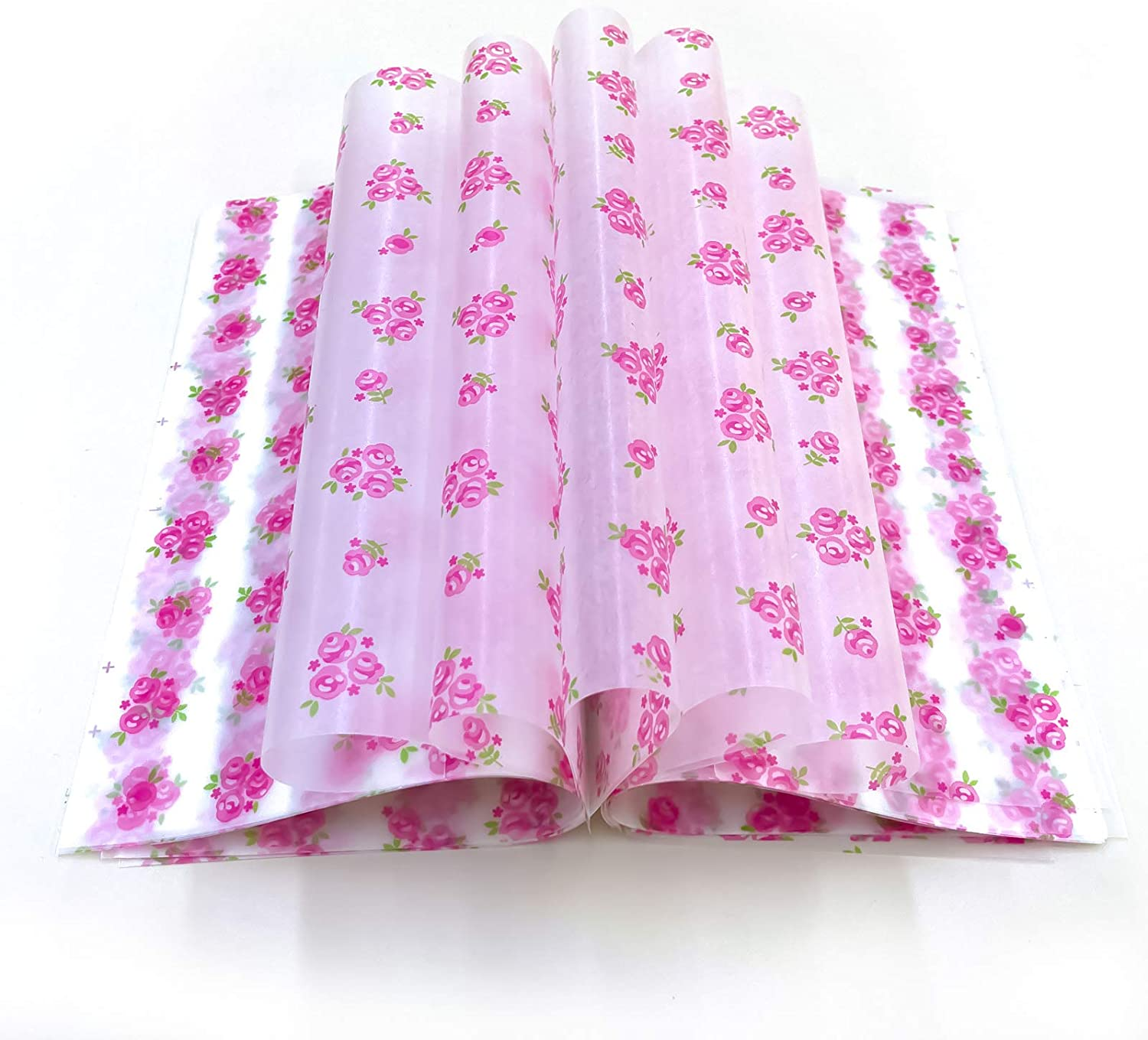 Wax Paper Deli Wraps Food Wrapping Basket Liners Deli Papers for Handmade Soap,Cookies and Carmels (100 sheets, Rose)