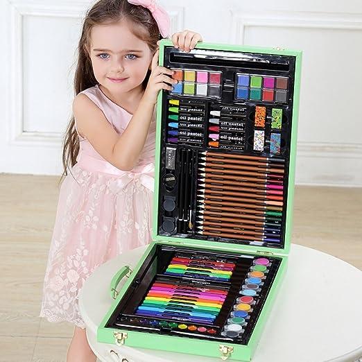 DMMW Caja Colores Niños El Juego de Dibujo de Arte en Madera Color ...