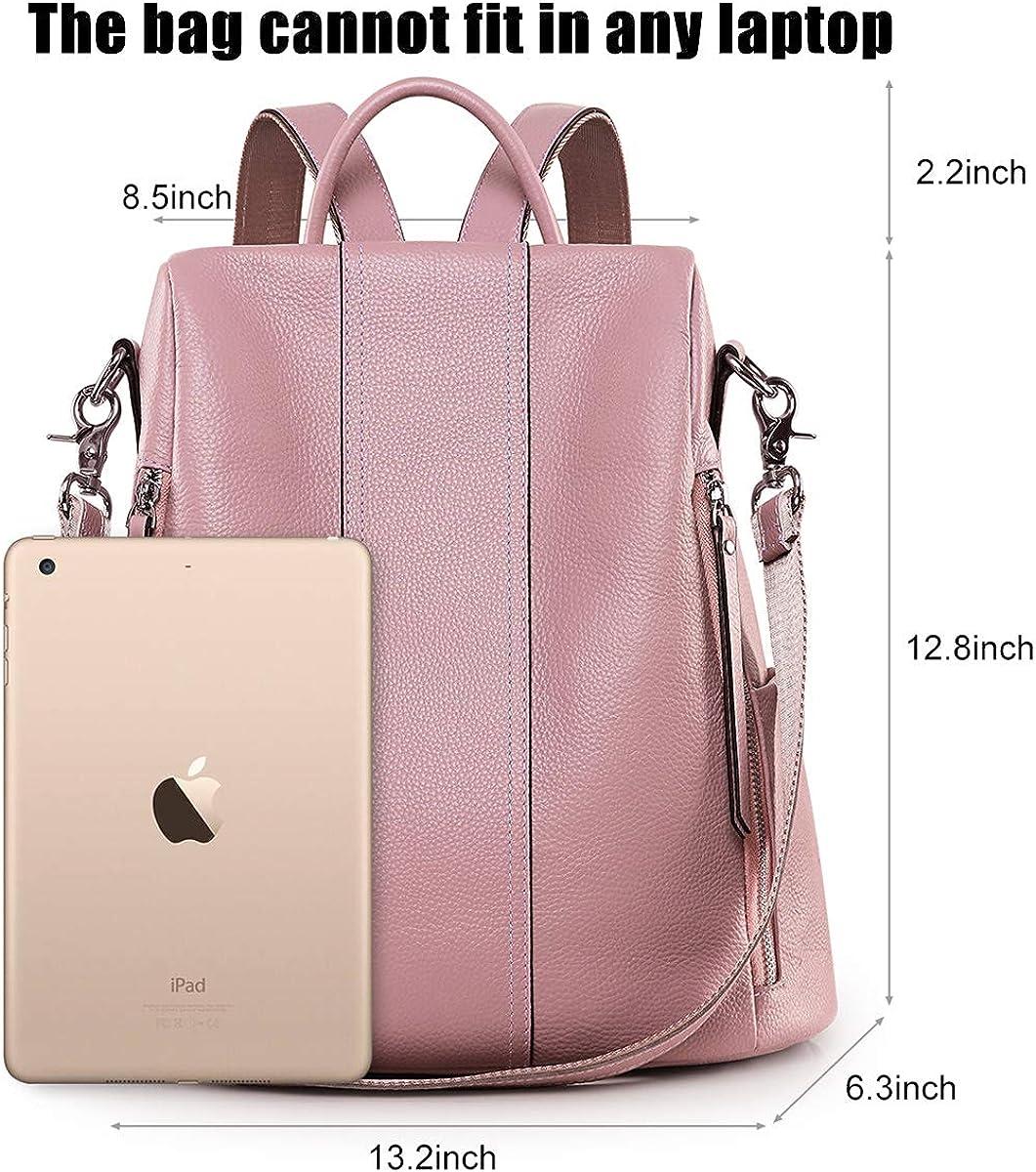 Brown Leather backpack purse Women laptop backpack Woman side pocket Soft leather backpack Rucksack