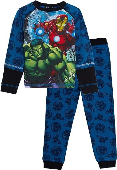 completamente stampato davanti e posteriore con pantaloni lounge Marvel Boys Avengers set da 2 pezzi Pigiama a tutta lunghezza