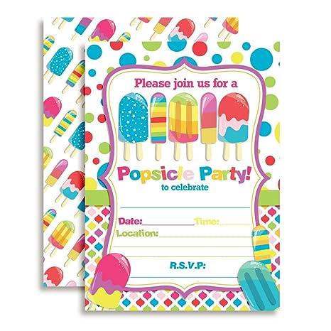 amazon com amanda creation popsicle birthday party invitations set