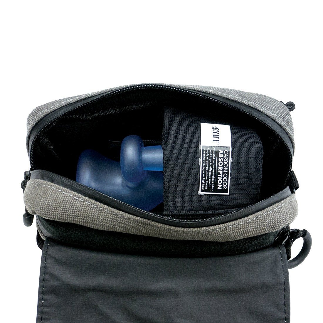 be44c5e94c01 Lockable Piper Carbon Series Bag with Odor Protection, Gray