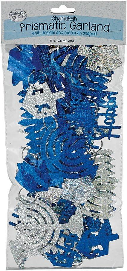 Rite Lite LTD Chanukah Garland, 1 EA, Blue, Silver