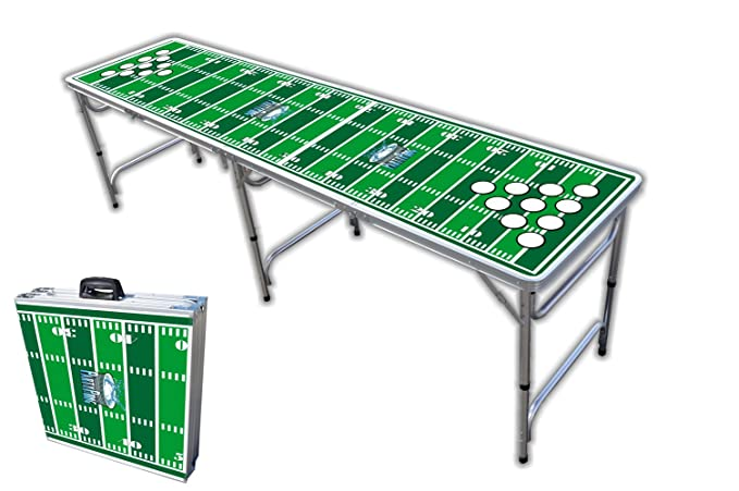 Amazon foot professional beer pong table w cup holes