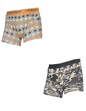 218432621f88 (Pack de 2) Jack Jones Hommes confortables Fit Boxer   Sous-v¨ºtements M  Multicolor  Amazon.co.uk  Clothing