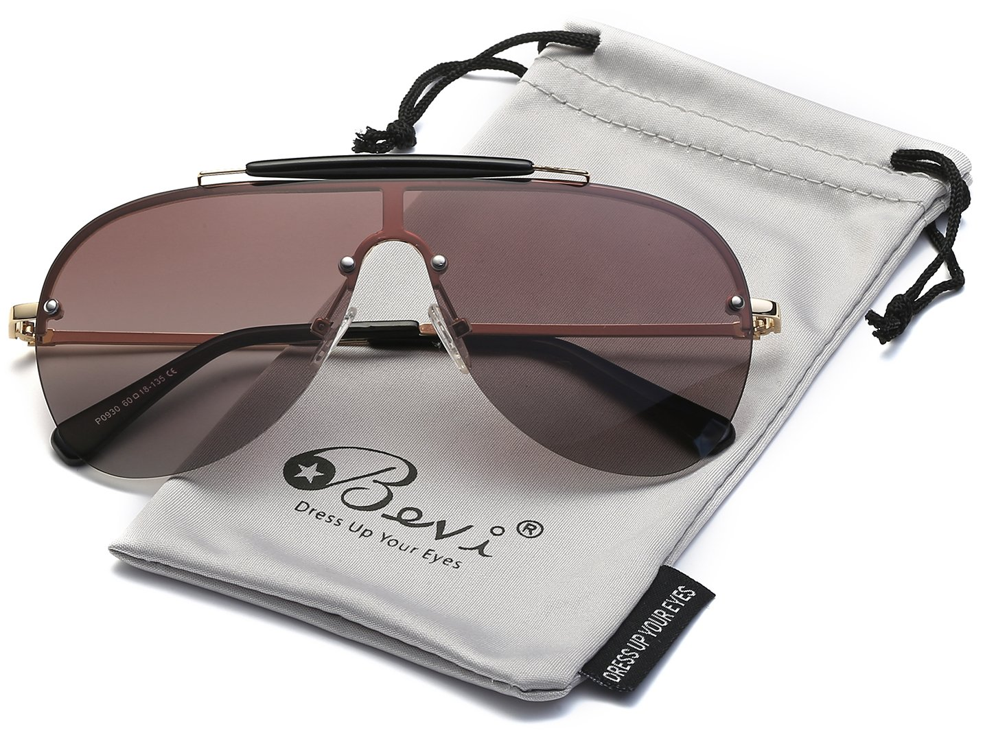 Bevi Polarized Aviator Sunglasses Fashion Brand Designer Driving SUN Glasses 0930Z5