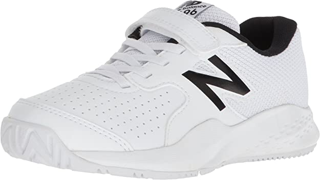 New Balance Kids 696v3 Tennis Shoe, White/White, 13 M US Little Kid