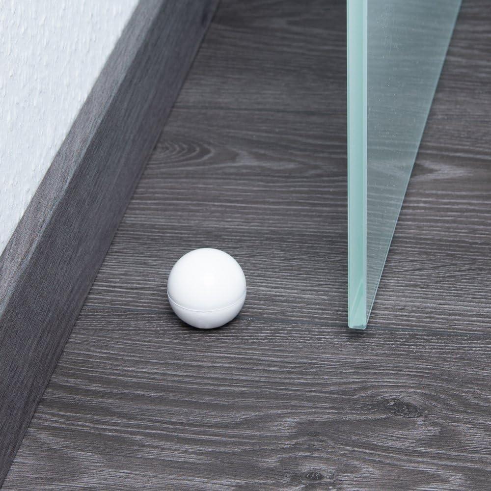 Color: Blanco Sossai 5 x Tope de Puerta//Tope de amortiguaction de Puerta NTS6-FI Material : Plasctico Model: Globe TPE Proteccion de la Pared apropiada para el Montaje en el Suelo