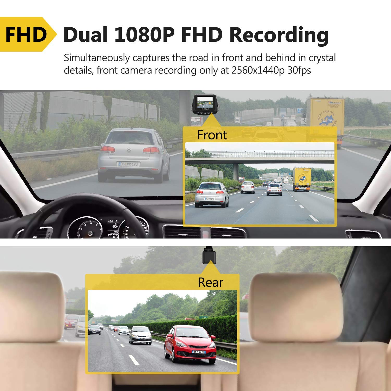 Z-edge Dual Dashcam Autokamera Ultra Hd 1440p Frontkamera Mit Rückkamera Foto & Camcorder s3