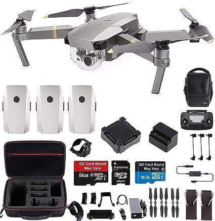 372c39ca4be Amazon.com: DJI Mavic Pro Platinum Fly More Combo Travel Bundle: Extra 2  Batteries, Professional Case and More: Camera & Photo