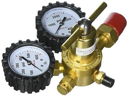 uniweld rhp400 nitrogen regulator with 0 400 psi delivery pressure