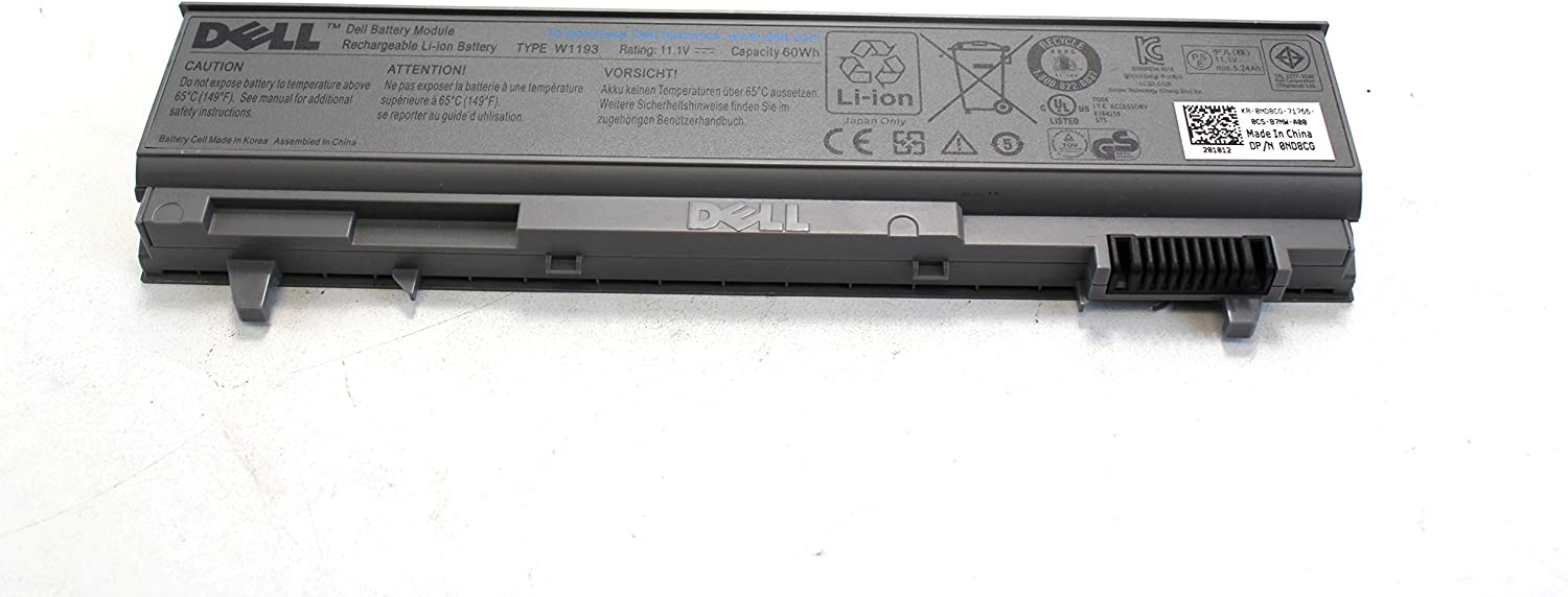 Original Dell Latitude Battery for Dell Latitude E6400, Dell Latitude E6410, Dell Latitude E6500, and Dell Latitude E6510; Dell Precision M2400, Dell Precision M4400 and Dell Precision M4500