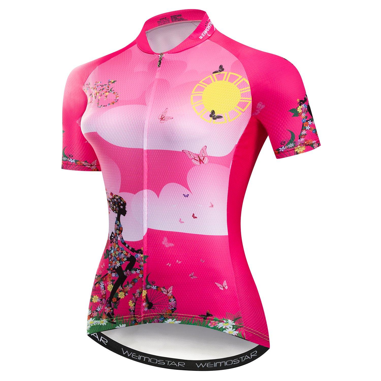 Women/'s Cycling Jersey Bike Shirt Short Sleeve Bicycle Clothing MTB Cycle Jacket