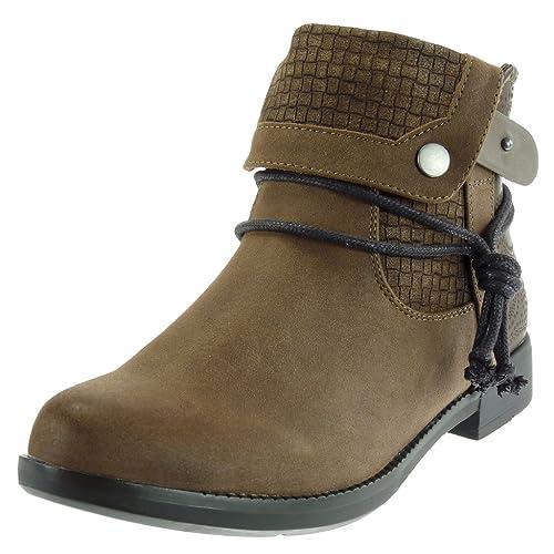 Angkorly - Zapatillas Moda Botines cavalier low boots mujer cocodrilo tanga acabado costura pespunte Tacón ancho 3 CM Forrada de Piel: Amazon.es: Zapatos y ...