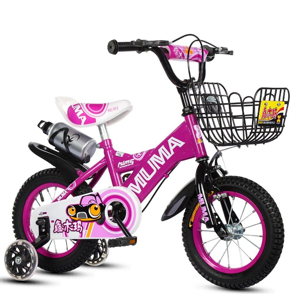 新品同様 CHS@ 子供の自転車2-4-6歳の6-7-8歳の子供の自転車ベイビーキャリッジの少年の自転車、フラッシュトレーニングホイールとケトル 18