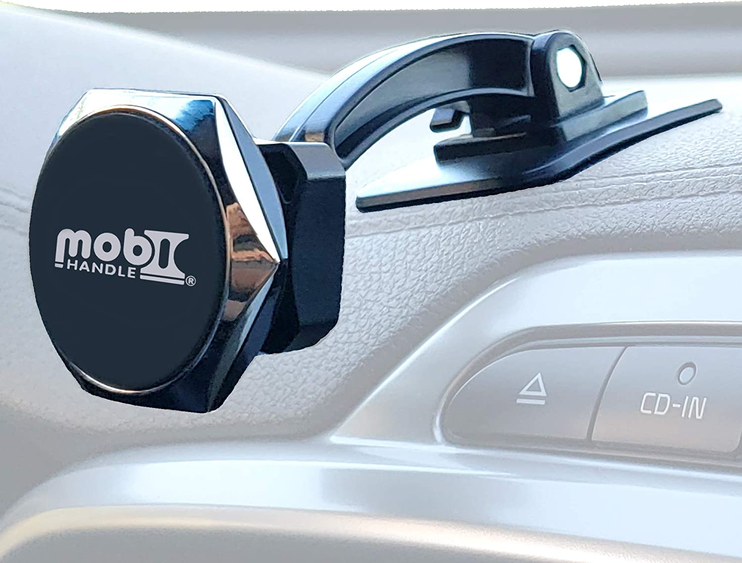 Magnetic Cell Phone Holder for Car - Universal Cradle Mount Stand for Dashboard Walls Furniture Computer -Any Angle, Powerful Magnets, Hot/Cold/Flat/Curved Surfaces -by MOBI HANDLE