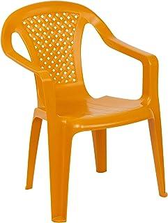 URBNLIVING Camelia Plastic Children's Chair - Orange (Quantity 6)
