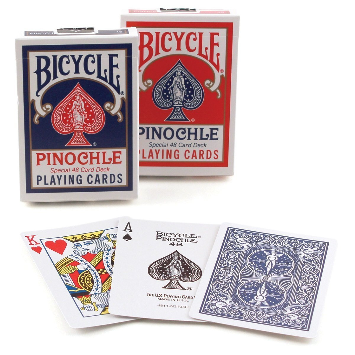 Pack of 2 United States Playing Card Company USPCP-01 Bicycle Pinochle Playing Cards