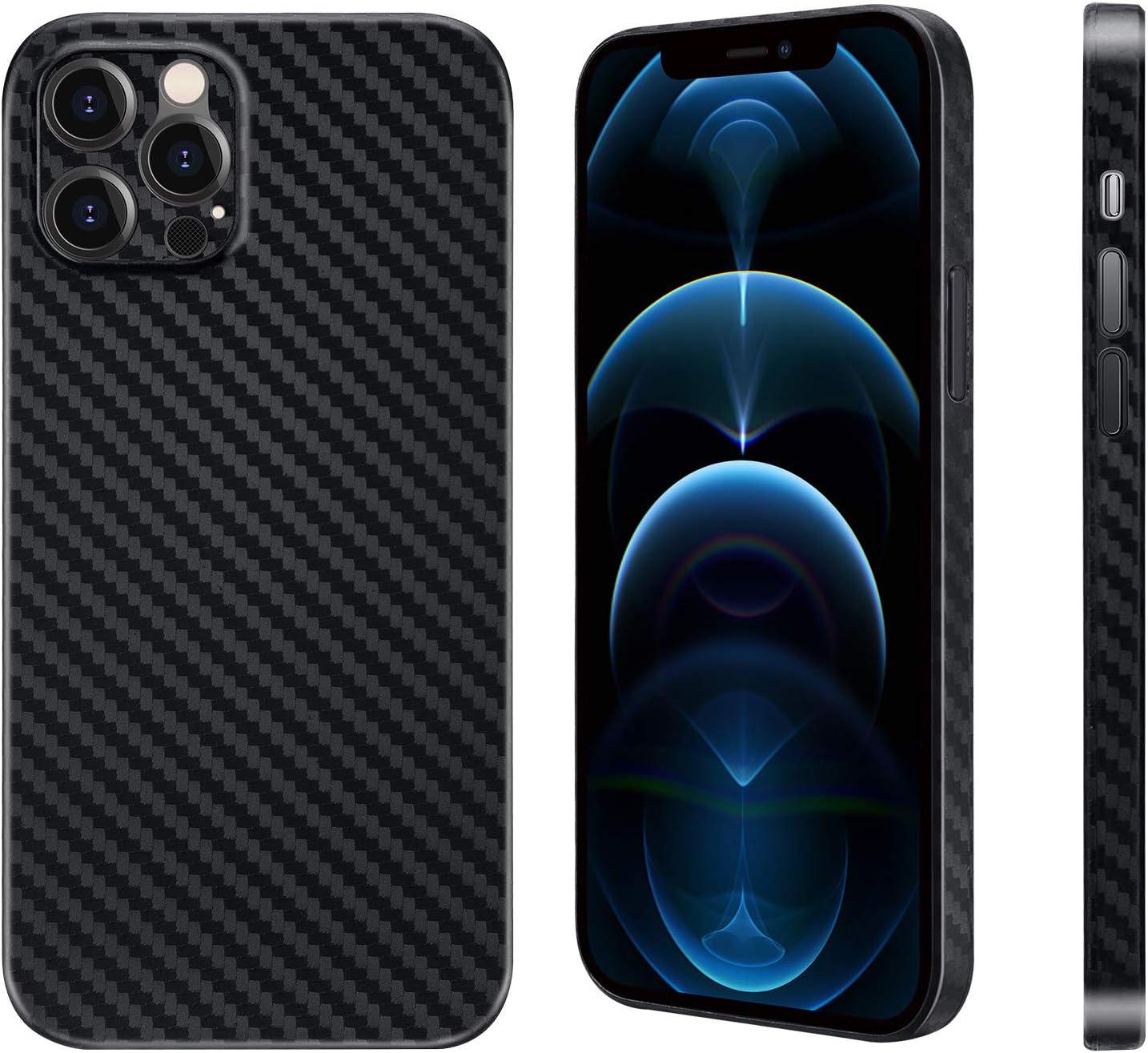 Carbon Fiber Texture Phone Case for iPhone 12 Pro 6.1
