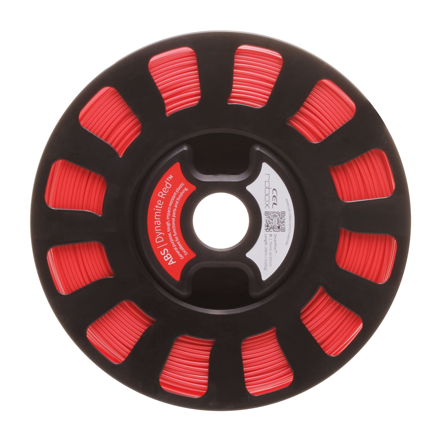 CEL RBX-ABS-RD537 ABS Filament, Dynamite Red