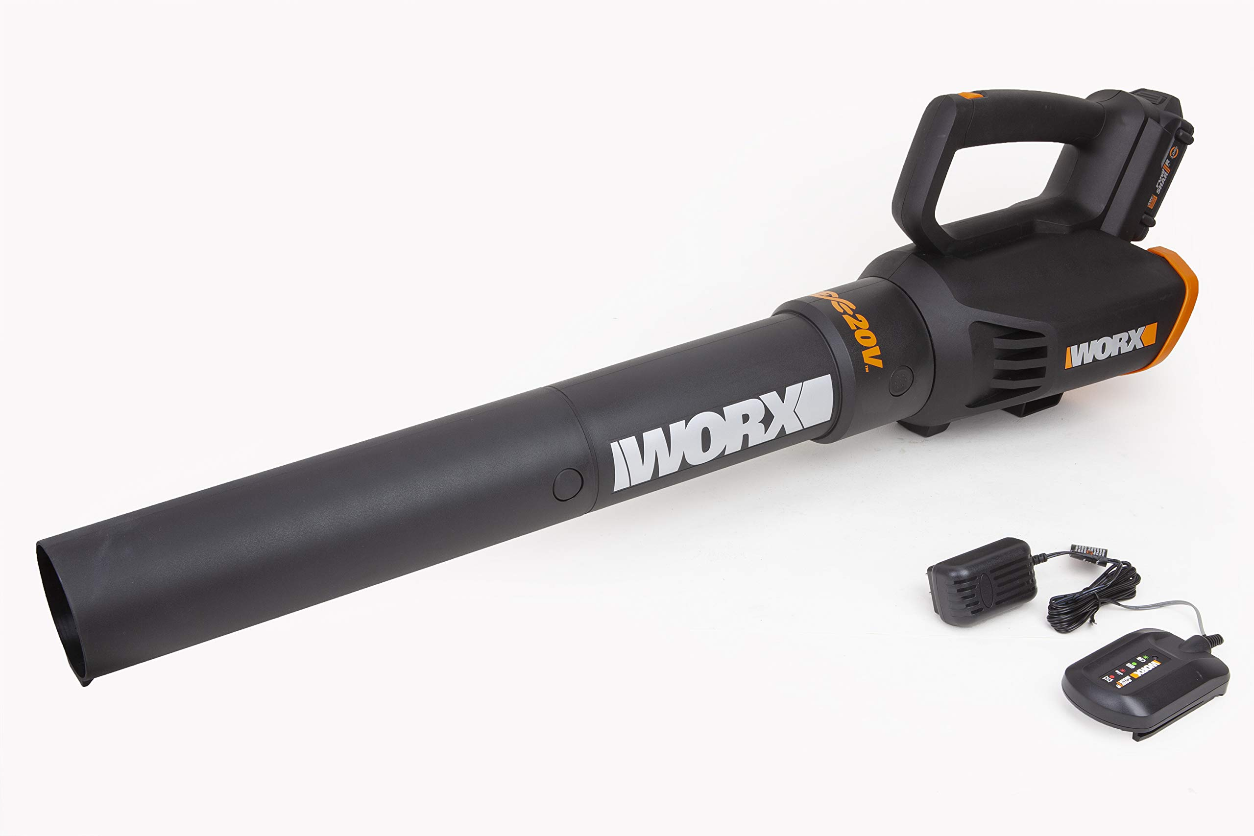 WORX WG547 20V (2.0Ah) Power Share Cordless Turbine Blower, 2-speed, Battery and Charger Included