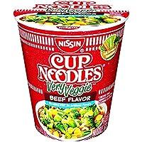 Nissin Very Veggie Ramen Noodle Soup, Beef Flavor, 2.65 Ounce (Pack of 6)