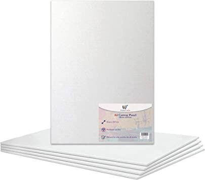 A4 Canvas Panel Stretched Blank Canvas Board Primed Artist Boards 100 Cotton For Oil Paint