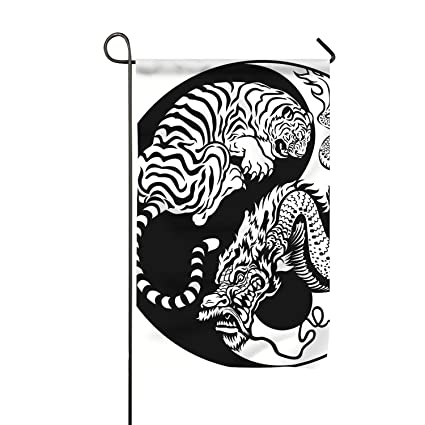 Amazon com : Dragon and Tiger Yin Yang Symbol Double-Sided