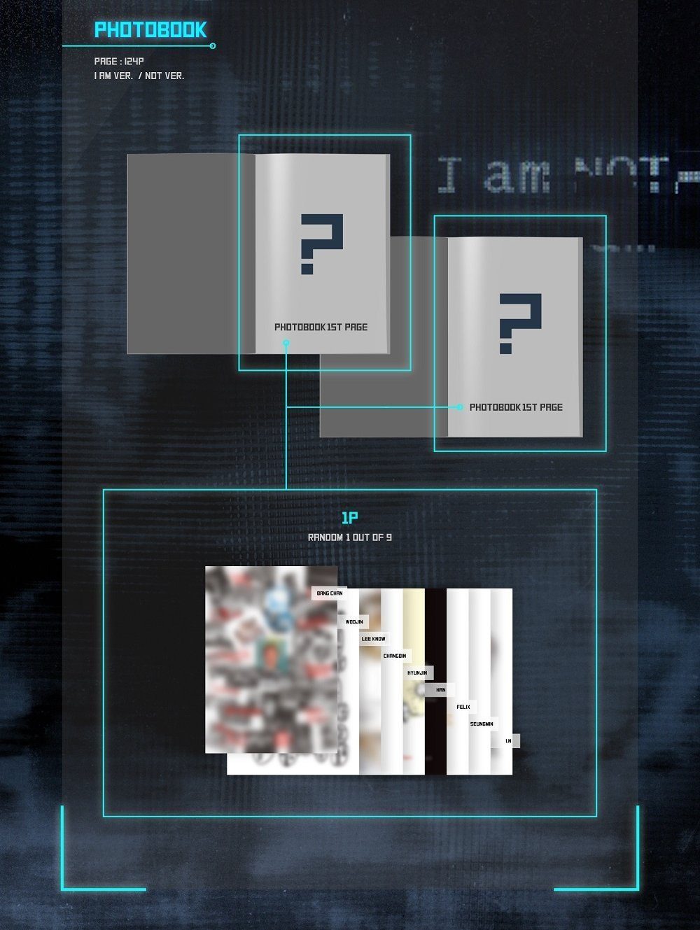 JYP Entertainment Stray Kids - I am NOT [I AM + NOT ver. Set] (1st Mini Album) 2CD+Photobook+3Photocards by JYP Entertainment (Image #3)