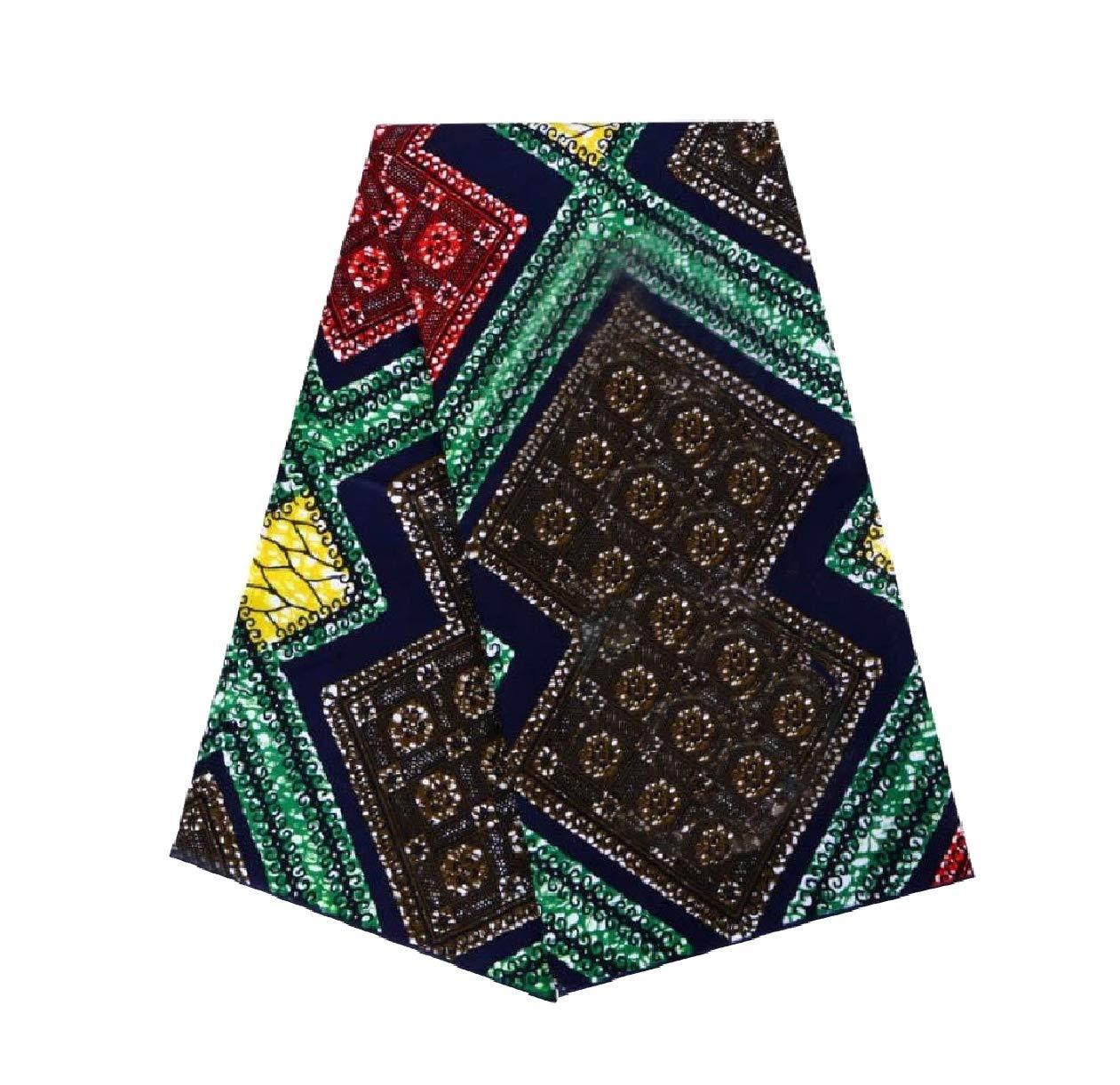Tootless Men Back Cotton Dashiki Comfy African Printed Apparel Fabric Multi OS