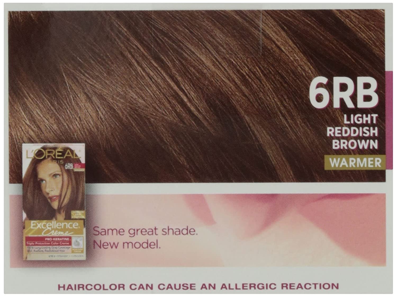 Loreal Excellence Creme Triple Protection Hair Color Light Reddish
