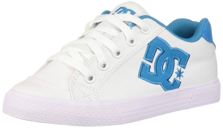 DC Women's Chelsea TX Skate Shoe, White/Blue, 5.5 M US by DC
