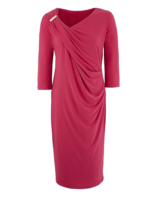 8672c558ba2a Womens Ava by Mark Heyes Ruched Shoulder Dress Raspberry